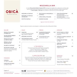 Catalogo Obicà Mozzarella Bar ( Più di un mese )