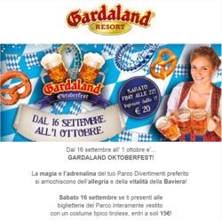 Offerte di Gardaland nella volantino di Roma