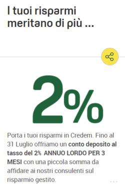 Offerte Banche nella volantino di Credem a Napoli