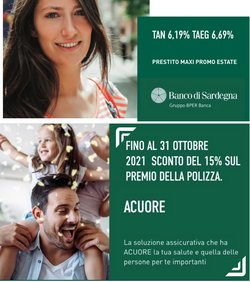 Offerte di Banche e Assicurazioni nella volantino di Banco di Sardegna ( Pubblicato ieri)