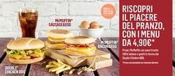 Offerte Caffetterie, ristoranti e pizzerie nella volantino di McDonald's a Venezia