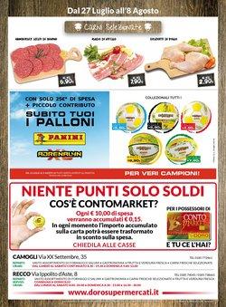 Offerte di Doro Supermercati nella volantino di Doro Supermercati ( Pubblicato ieri)