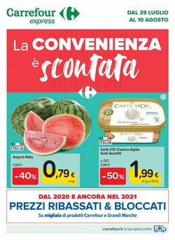 Catalogo Carrefour Express ( Pubblicato ieri)