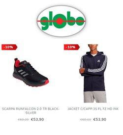 Offerte di Adidas nella volantino di Globo Moda ( Pubblicato oggi)