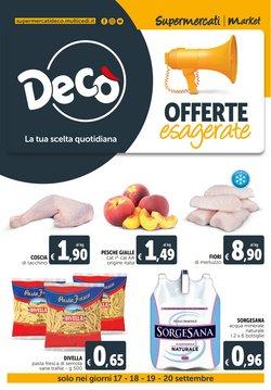 Offerte di Iper Supermercati nella volantino di Deco Market ( Pubblicato oggi)