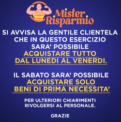Coupon Mister Risparmio a Udine (Udine) ( Per altri 4 giorni )
