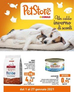 Offerte Animali nella volantino di Pet Store Conad a Bagheria ( Scade oggi )