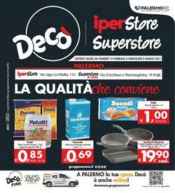 Offerte Iper Supermercati nella volantino di Deco Superstore a Palermo ( Per altri 3 giorni )