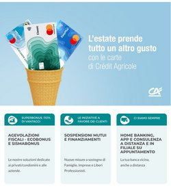 Offerte di Banche e Assicurazioni nella volantino di Crédit Agricole ( 2  gg pubblicati)