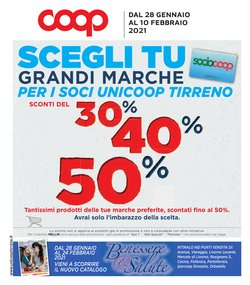 Catalogo Coop Unicoop Tirreno a Livorno ( 2  gg pubblicati )