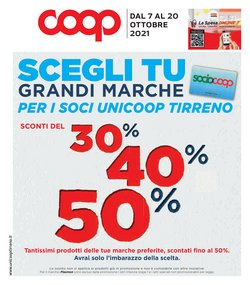 Offerte di Coop Unicoop Tirreno nella volantino di Coop Unicoop Tirreno ( Per altri 2 giorni)