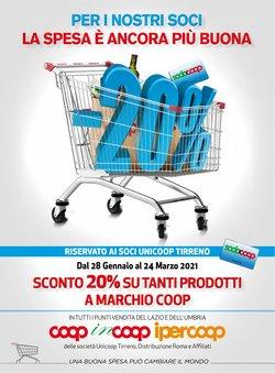 Offerte Iper Supermercati nella volantino di In Coop Unicoop Tirreno a Anzio ( Pubblicato ieri )