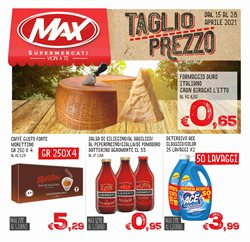 Offerte Iper Supermercati nella volantino di Max Supermercati a Trapani ( Pubblicato oggi )