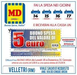 Offerte Discount nella volantino di MD Discount a Velletri ( Pubblicato ieri )