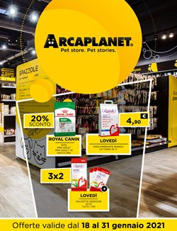Offerte Animali nella volantino di Arcaplanet a Crema ( 3  gg pubblicati )