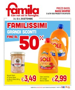 Catalogo Famila ( Pubblicato ieri)