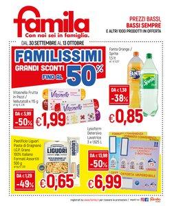 Offerte di Famila nella volantino di Famila ( Pubblicato ieri)