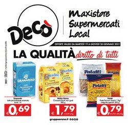 Offerte Iper Supermercati nella volantino di Deco Supermercati a Santa Teresa di Riva ( Pubblicato ieri )