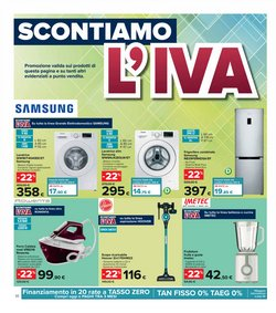 Offerte di Samsung nella volantino di Carrefour Iper ( Pubblicato oggi)