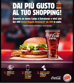 Offerte di Coca-Cola a Burger King
