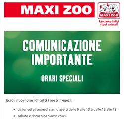 Coupon Maxi Zoo a Venezia ( Per altri 3 giorni )