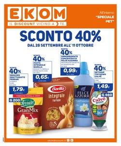 Offerte di Discount nella volantino di Ekom ( Pubblicato ieri)