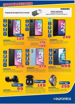Offerte di Samsung nella volantino di Euronics ( Pubblicato ieri)