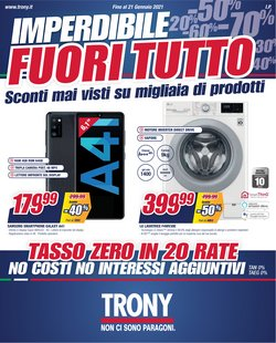 Offerte Elettronica e Informatica nella volantino di Trony a Ladispoli ( Scade oggi )