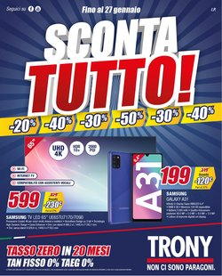Offerte Elettronica e Informatica nella volantino di Trony a Pisa ( Scade oggi )