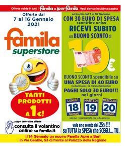 Catalogo Famila Superstore a Bari ( Scaduto )