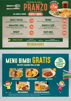 Offerte Ristoranti nella volantino di WienerHaus a Lissone ( Per altri 14 giorni )