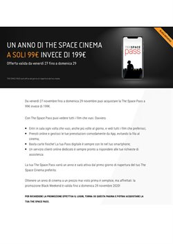 Catalogo The Space Cinema ( Scaduto )