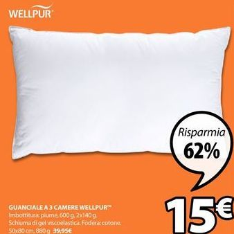 Offerta per Cuscino Well Pur a 15€
