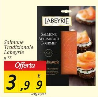 Offerta per Salmone Labeyrie a 3.99€