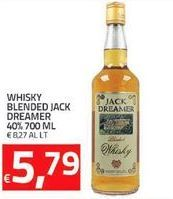 Offerta per Whisky blended Jack Dreamer 40% 700 ml a 5.79€