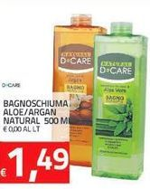 Offerta per Bagnoschiuma Aloe/Argan Natural 500 ml a 1.49€
