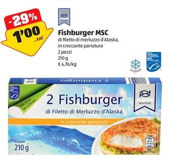 Offerta per Fishburger MSC a 1€