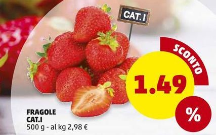Offerta per Fragole cat. I a 1.49€