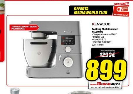 Offerta per Cooking chef gourmet Kenwood a 899€