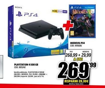 Offerta per PlayStation 4 500GB  a 269.99€
