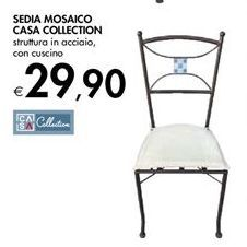 Offerta per Sedia mosaico casa collection a 29,9€