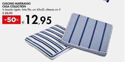 Offerta per Cuscino materasso casa collection a 12.95€