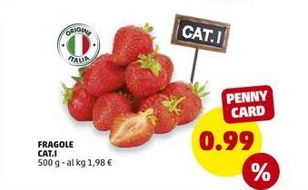 Offerta per Fragole cat. I a 0.99€