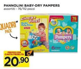 Offerta per Pannolini baby-dry Pampers a 20,9€