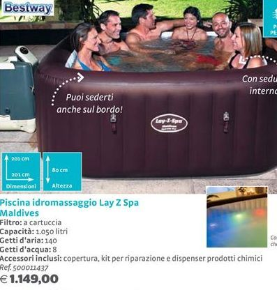 Offerta per Piscina idromassaggio Lay Z Spa Maldives Bestway a 1149€
