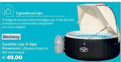 Offerta per Gazebo Lay-Z-Spa Bestway a 49€