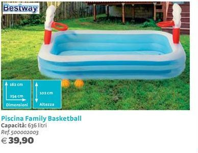 Offerta per Piscina Family Basketball Bestway a 39,9€
