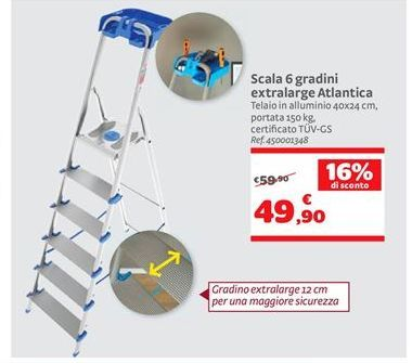 Offerta per Scala 6 gradini extralarge Atlantica a 49,9€