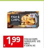 Offerta per Fish & Chips Surgelate VIS a 1,99€