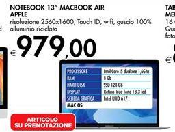 Offerta per MacBook Air Apple a 979€